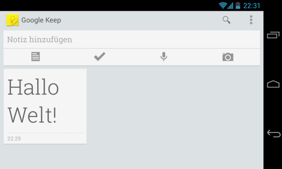 Google Keep für Android