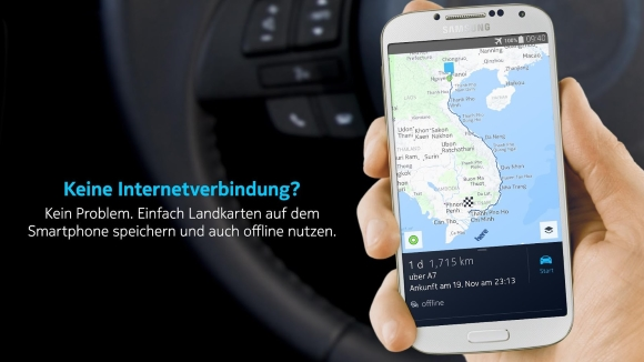 HERE Maps für Android Smartphones