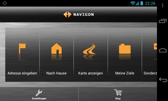 navigon 4 8 f r android mit unterst tzung f r galaxy s4 und htc one. Black Bedroom Furniture Sets. Home Design Ideas