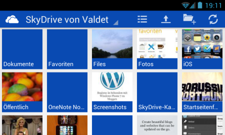 SkyDrive für Android Smartphones