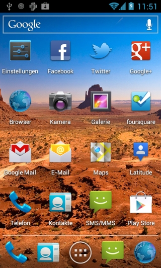 Nexus S mit Android 4.0.4 Ice Cream Sandwich