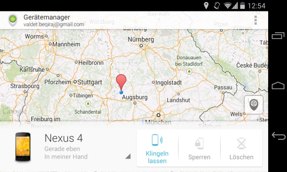 Android Device Manager für Android