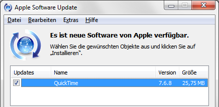 Apple QuickTime 7.6.8