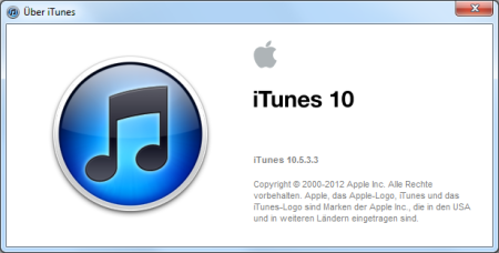 Apple iTunes 10.5.3