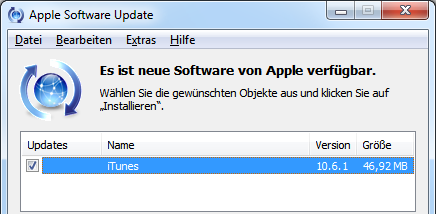 Apple iTunes 10.6.1