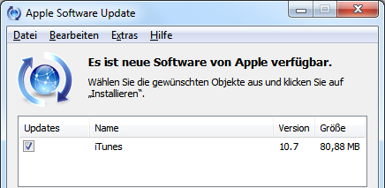 Apple iTunes 10.7