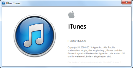 Apple iTunes 11.0.2.26