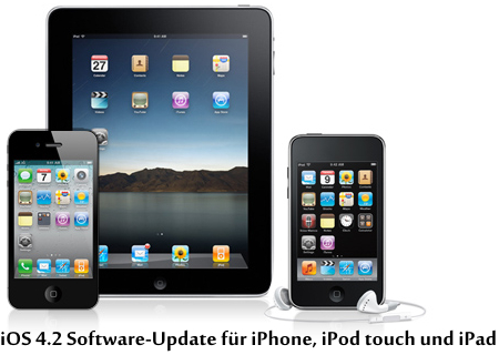iOS 4.2 Software-Update für iPhone, iPad und iPod touch