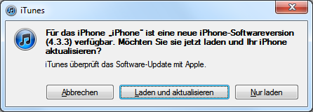 iOS 4.3.3 Software-Update