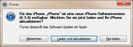 iOS 4.3.4 Software-Update