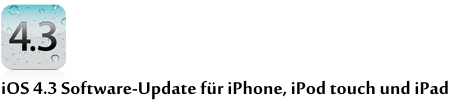 iOS 4.3 Software-Update