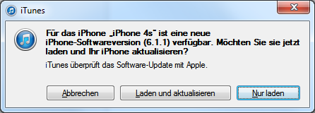 iOS 6.1.1 für iPhone 4S