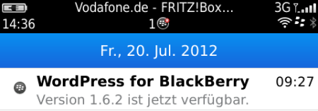 WordPress App für BlackBerry