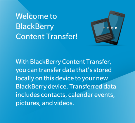 BlackBerry Content Transfer App für BlackBerry 10
