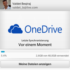 Connect to Microsoft OneDrive für BlackBerry 10