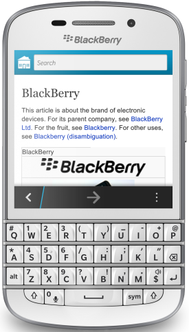 Wikipedia für BlackBerry 10