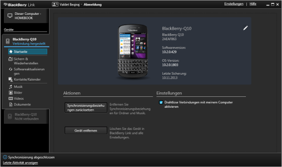 BlackBerry Link