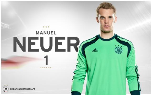 Die Nationalmannschaft -> Manuel Neuer Wallpaper zur Fußball-WM 2014