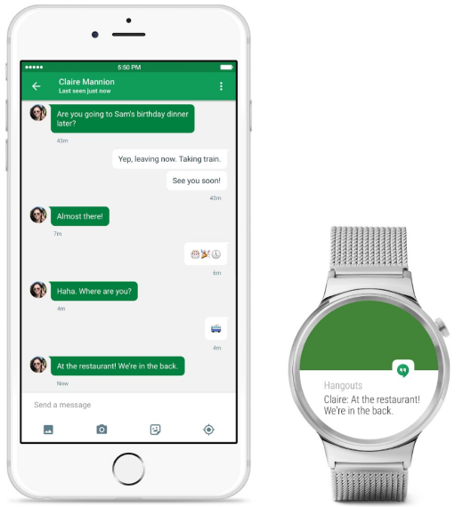 Android Wear App für iPhone