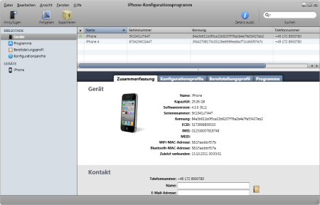 iPhone Configuration Utility