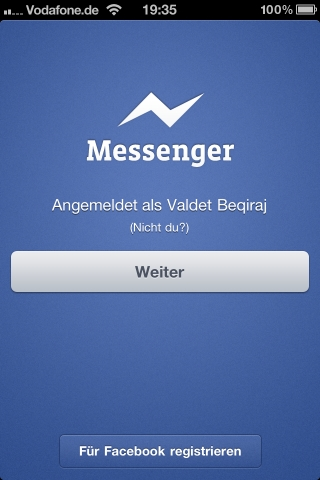 Facebook Messenger für iPhone