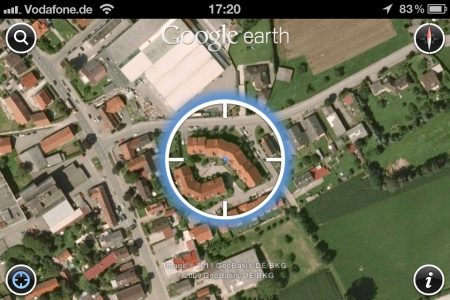 Google Earth für iPhone, iPod touch und iPad