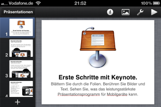 iWork Keynote iPhone, iPad und iPod touch