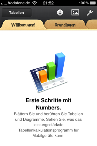 iWork Numbers für iPhone, iPad und iPod touch
