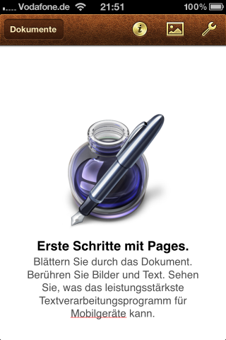 iWork Pages für iPhone, iPad und iPod touch