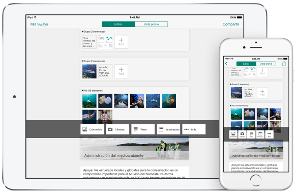 Office Sway App für iOS