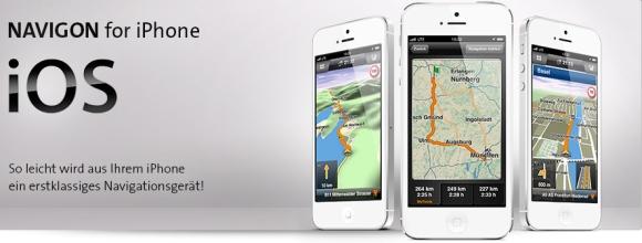 NAVIGON App für iPhone, iPad und iPod touch