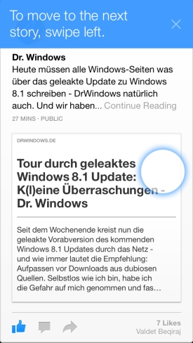 Facebook Paper für iPhone