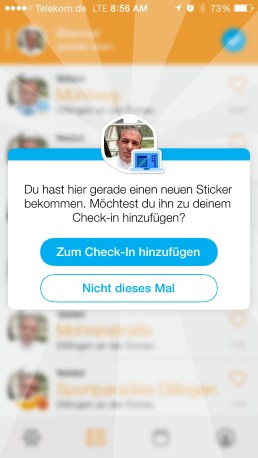 foursquare Swarm App für iPhone