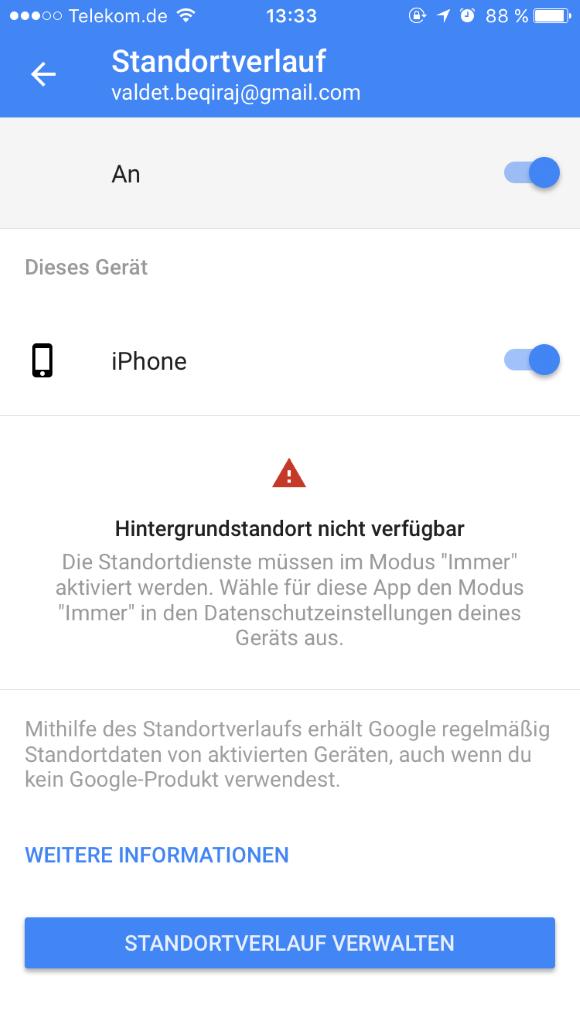 Datenverbrauch unter iOS 10