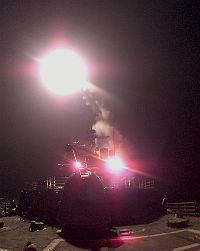 USS Philippine Sea launches Tomahawk missile.