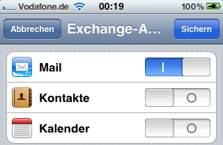 Hotmail Exchange ActiveSync auf dem iPhone einrichten