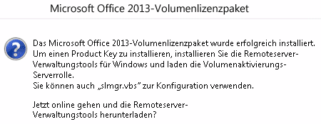 Office 2013-Volumenlizenzpaket