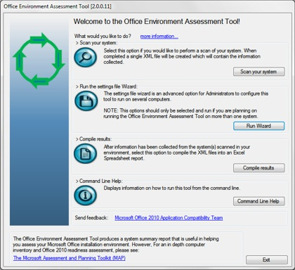 Office 2010 Environment Assessment Tool