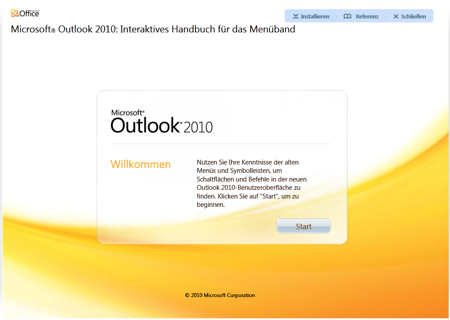 Microsoft Outlook 2010 - Interactive Menu to ribbon guide