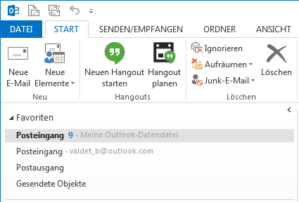Hangouts-Plug-in für Microsoft Outlook