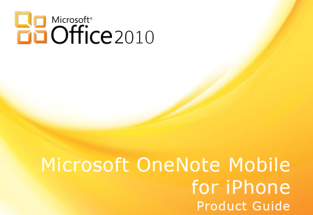 OneNote Mobile for iPhone Product Guide