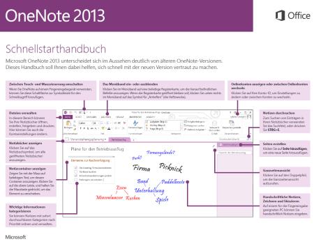 onenote 2013 schnellstarthandbuch verf gbar
