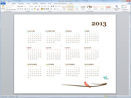 kalender 2013 vorlagen f r microsoft word