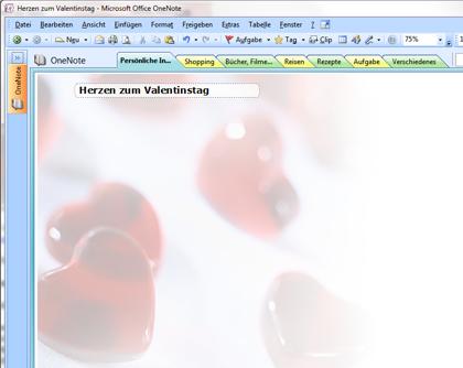 herzen zum valentinstag vorlage f r onenote
