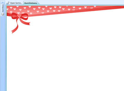 OneNote template - Valentine's Day stationery