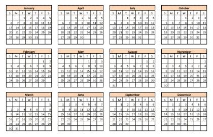 Excel Vorlage Ein Kalender Der Immer Aktuell Ist It Bloggernet