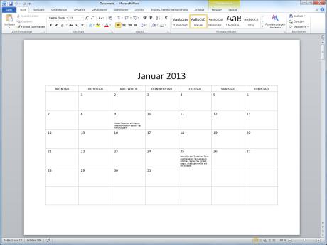basiskalender 2013 f r microsoft word
