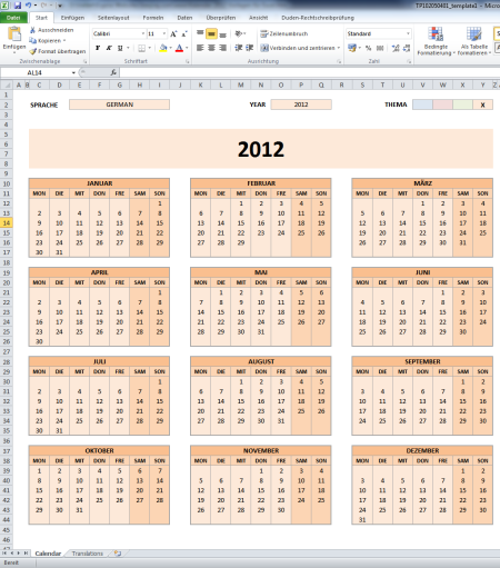 kalender 2012 vorlagen f r microsoft excel