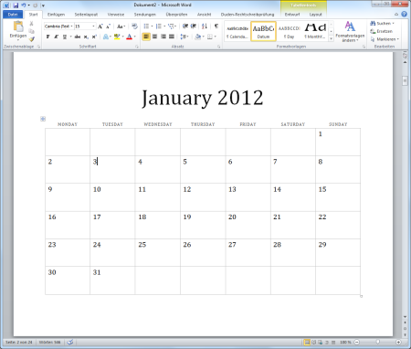 Wie diesen Monatskalender SELBST mit Excel erstellen Office-Loesung.de