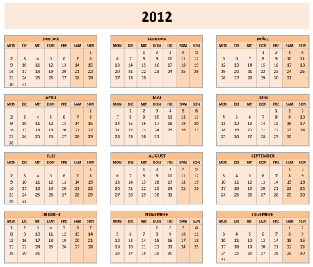 kalender 2012 vorlagen f r microsoft powerpoint. Black Bedroom Furniture Sets. Home Design Ideas